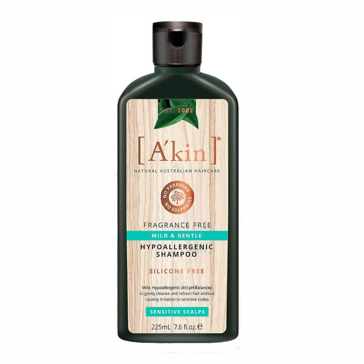 A'kin Mild & Gentle Fragrance Free Shampoo