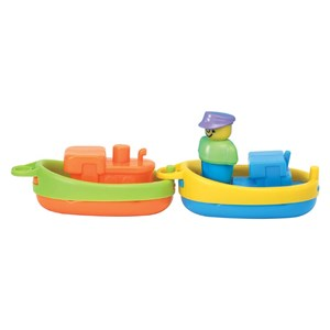 A to Z Fun Time Bathtime Tugboats Floating Bath Toy (18m+)