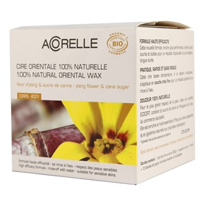 Acorelle Skin Care Oriental Wax with Strips - Ylang Flower & Cane Sugar