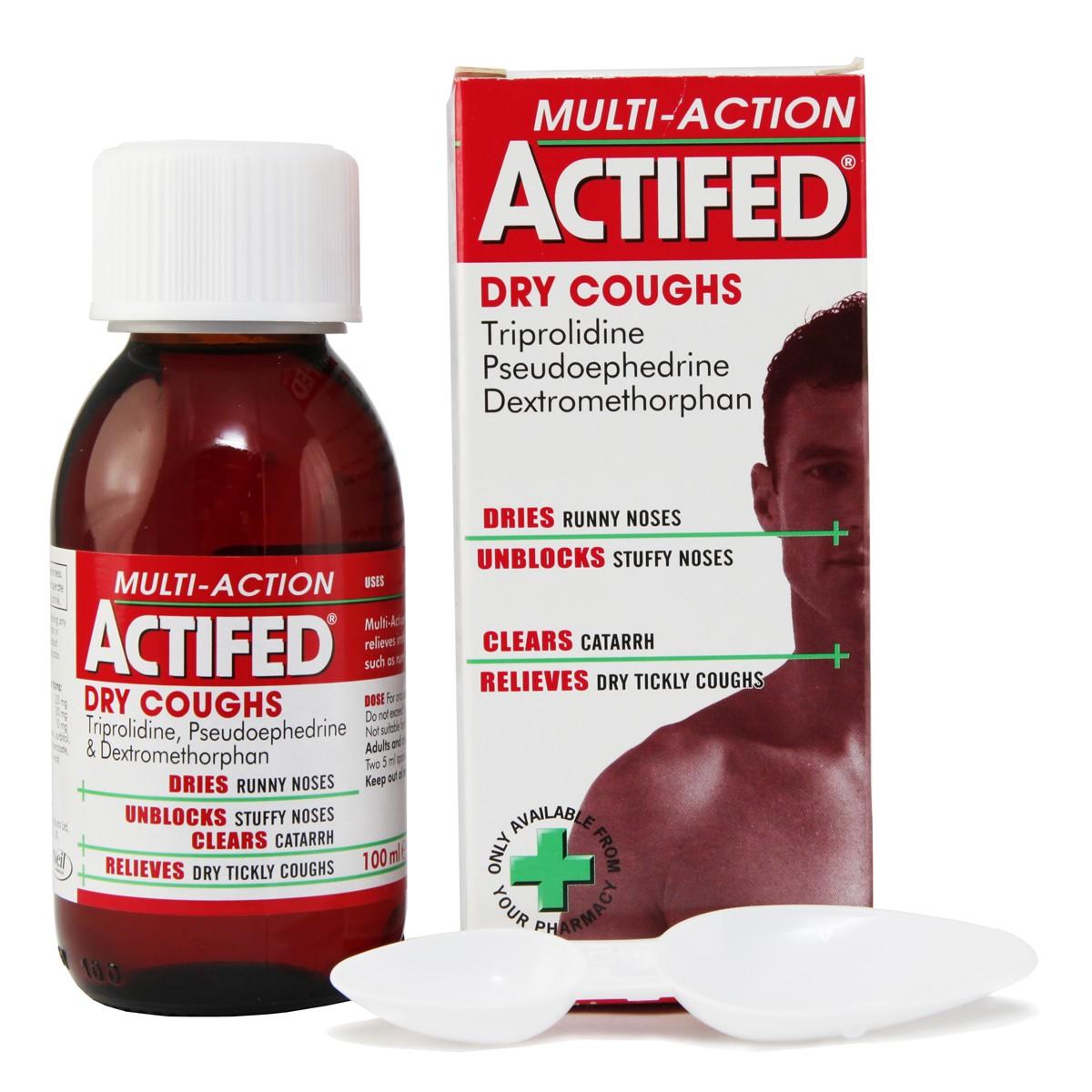 Actifed Multi-Action Dry Cough Liquid