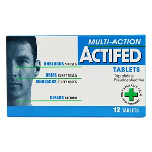 Actifed Multi-Action Tablets