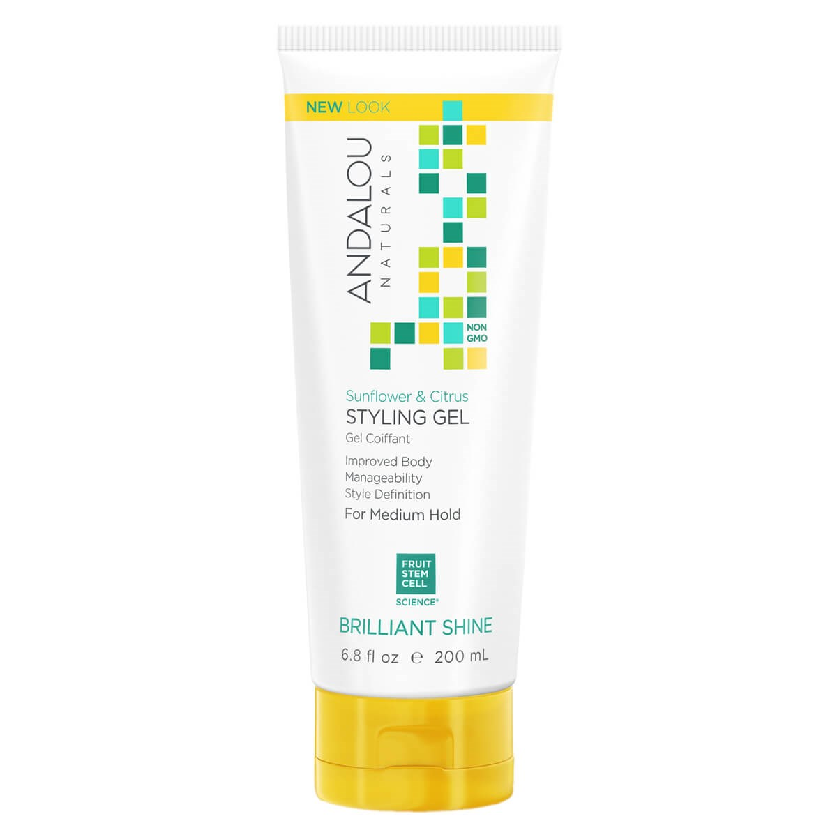 Andalou Naturals Brilliant Shine Sunflower & Citrus Medium Hold Styling Gel