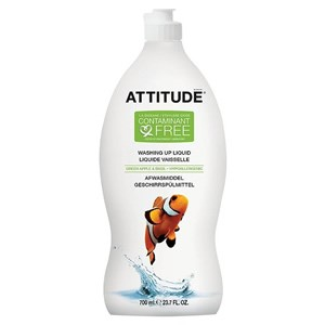 Attitude Washing Up Liquid - Green Apple & Basil