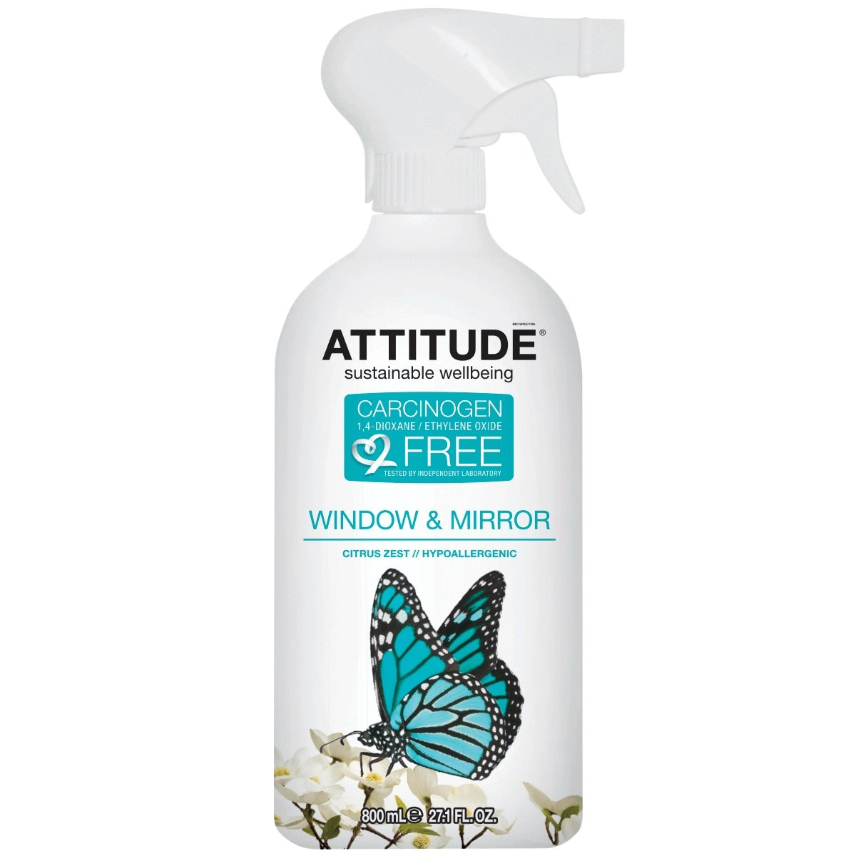 Attitude Window & Mirror Citrus Zest Cleaner