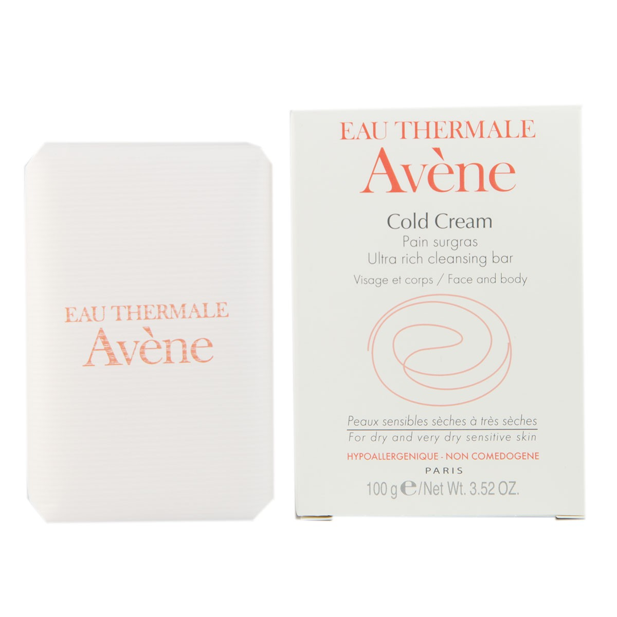 Avene Cold Cream Ultra Rich Soap-Free Cleansing Bar