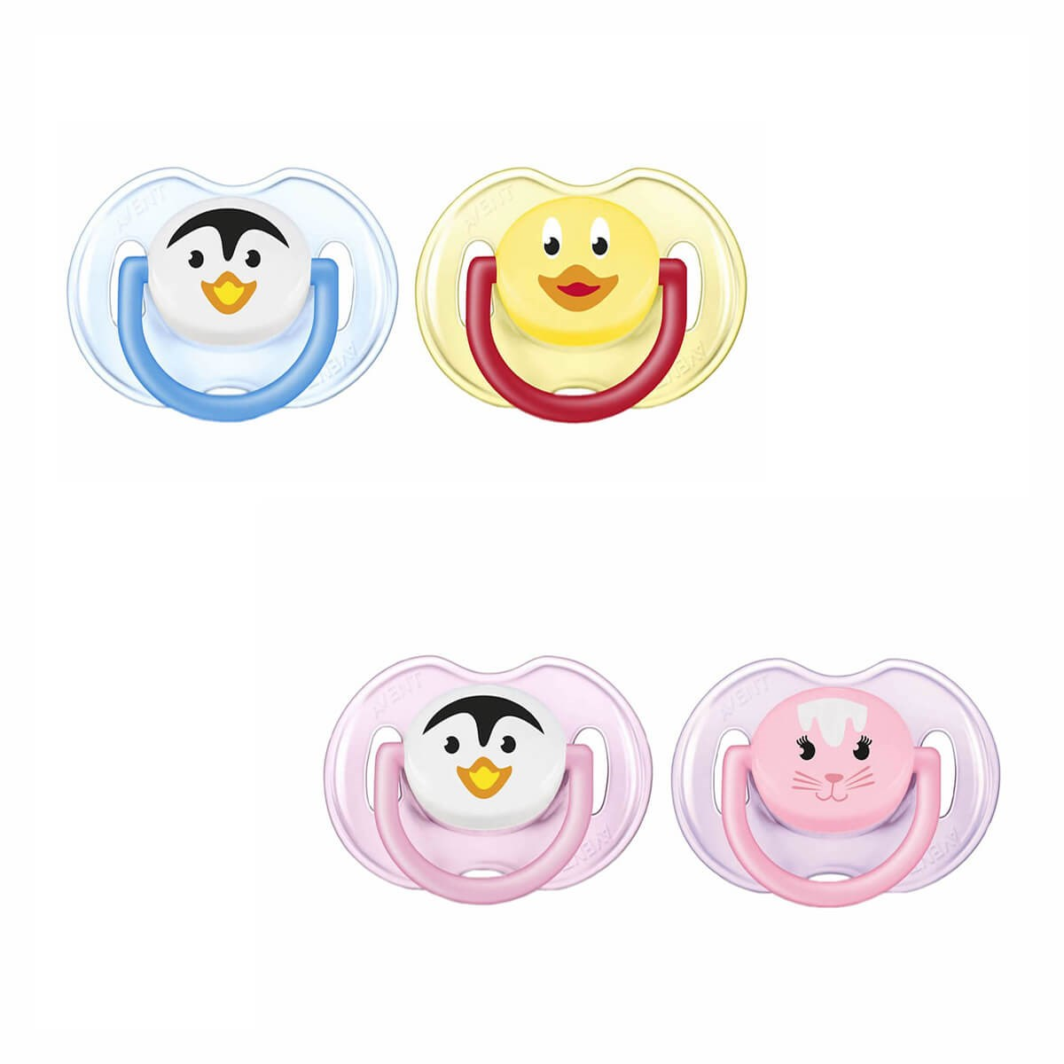 Avent Animal Silicone Soother 0-6m