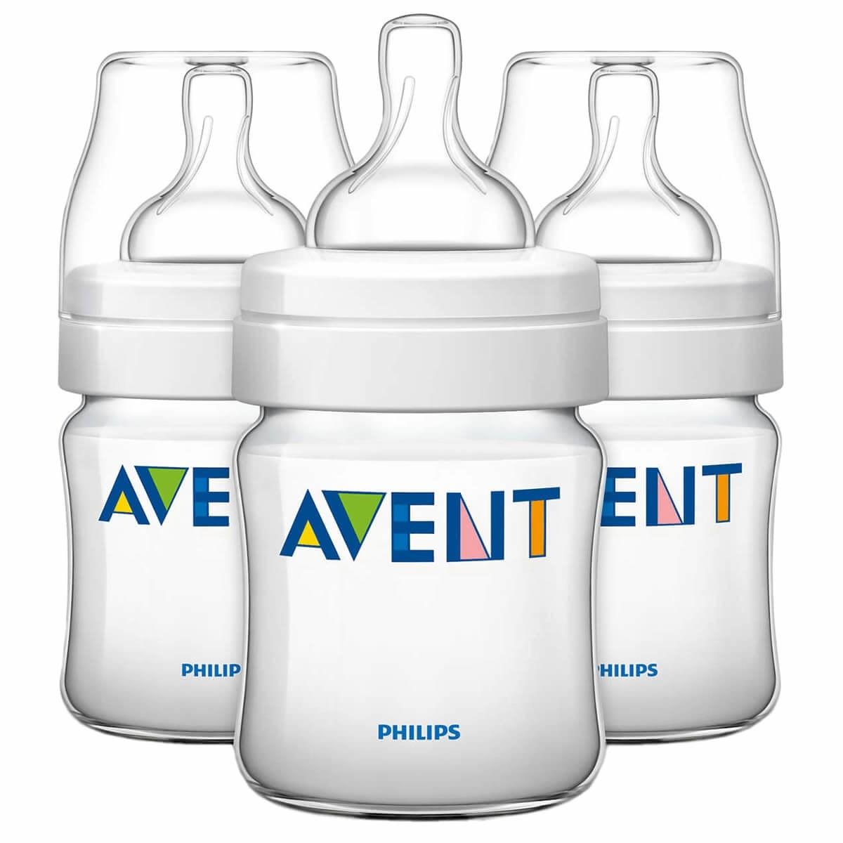 Avent Classic+ Feeding Bottles 0m+ (3 Pack)