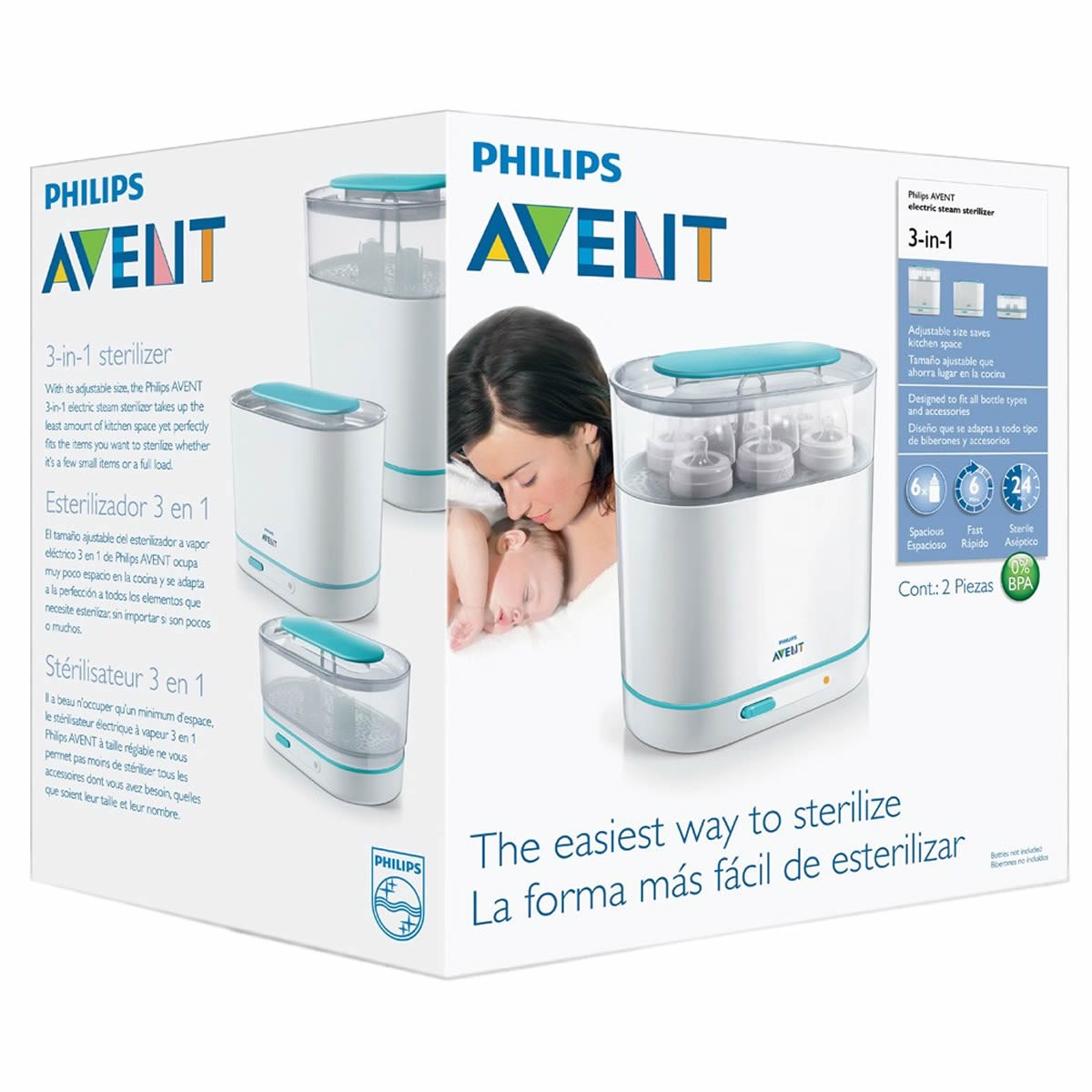 Avent Electric Steam Steriliser 3 in 1