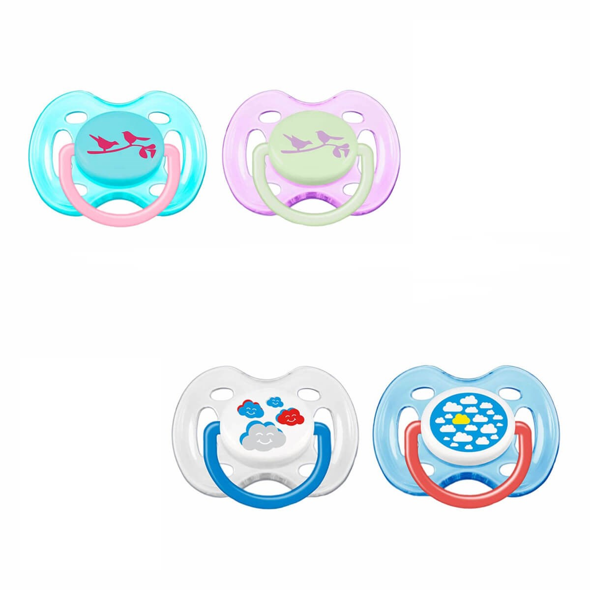 Avent Fashion Free Flow Silicone Soother 0-6m