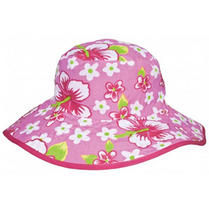 Banz Baby Reversible Sun Hat - Pink Flower