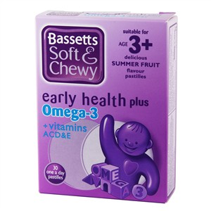 Bassett's Early Health Plus Omega 3 + Vitamins ACD&E Summer Fruit