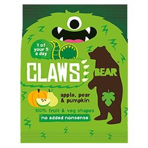 Bear Claws 100% Fruit & Veg Shapes - Apple, Pear & Pumpkin