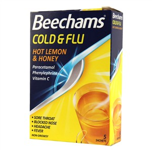 Beechams Cold & Flu Hot Lemon & Honey