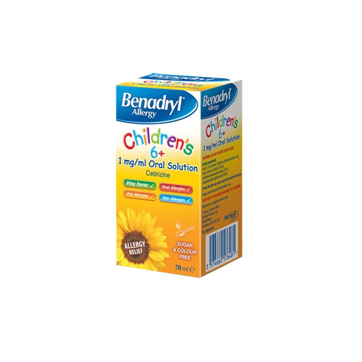 Benadryl Allergy Children's 6+ 1mg/ml Oral Solution