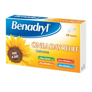 Benadryl One A Day Allergy Relief Tablets