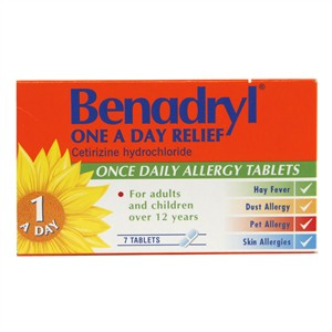 Benadryl One A Day Allergy Relief  Tablets 12+ Years
