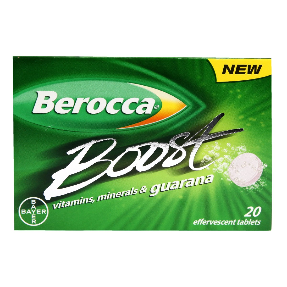 Berocca Boost Vitamins, Minerals & Guarana Effervescent Tablets