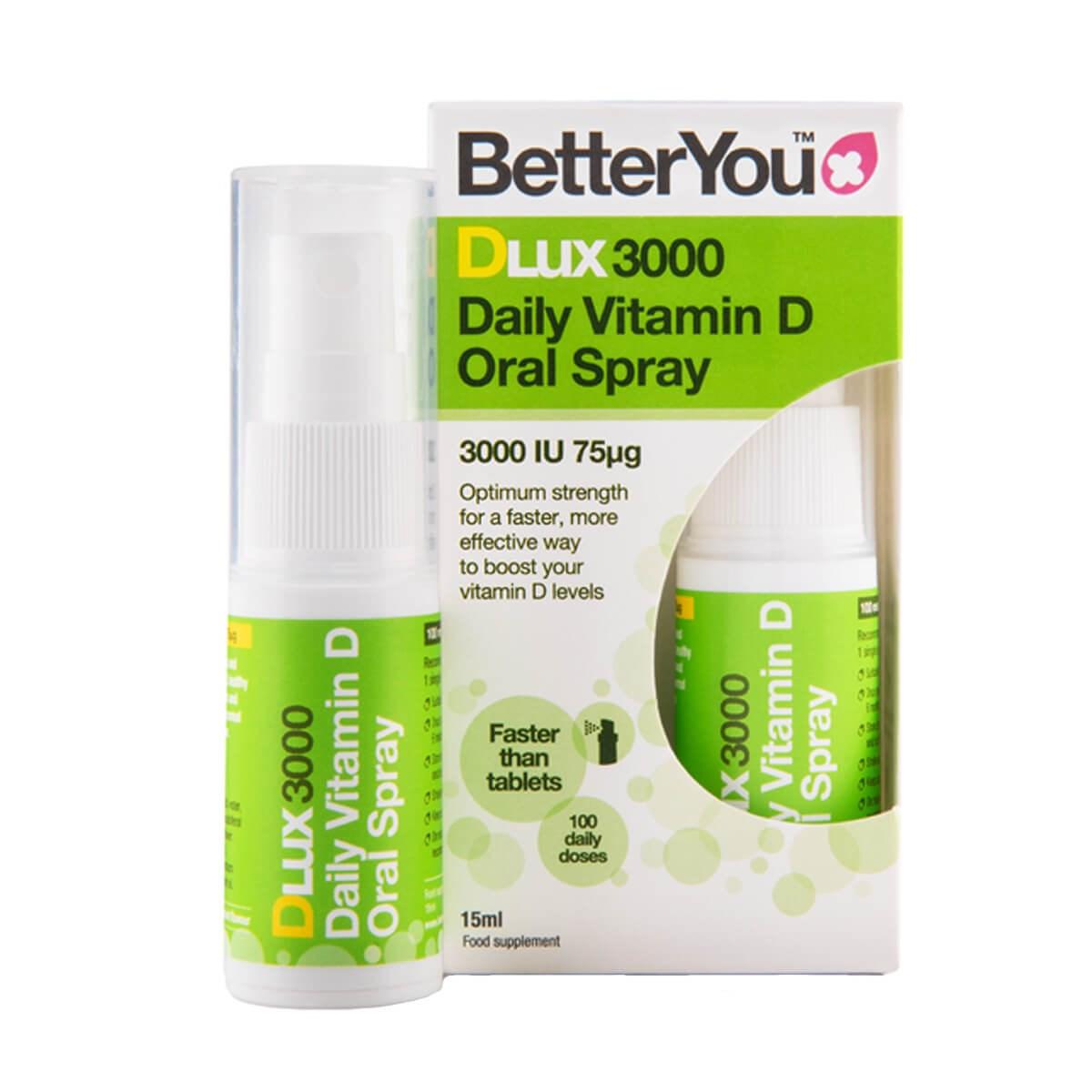 BetterYou DLux3000 Oral Vitamin D3 Spray