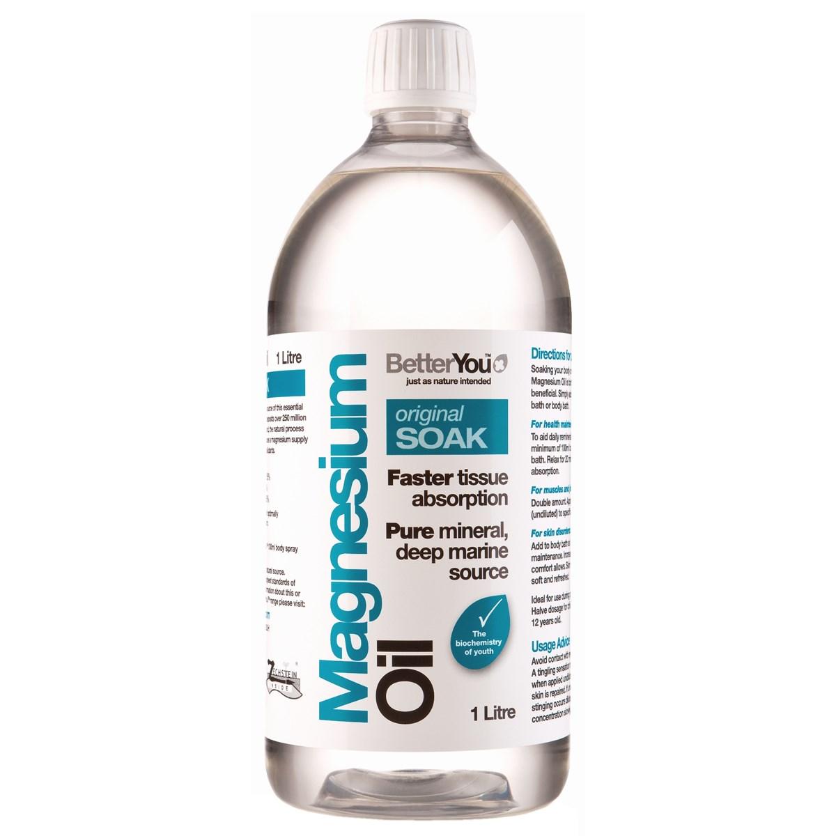 BetterYou Magnesium Oil Original Soak - 1 Litre