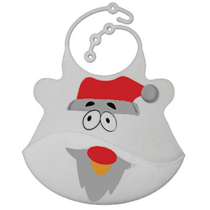 Bibisili Catch All Rollable Bib - Santa