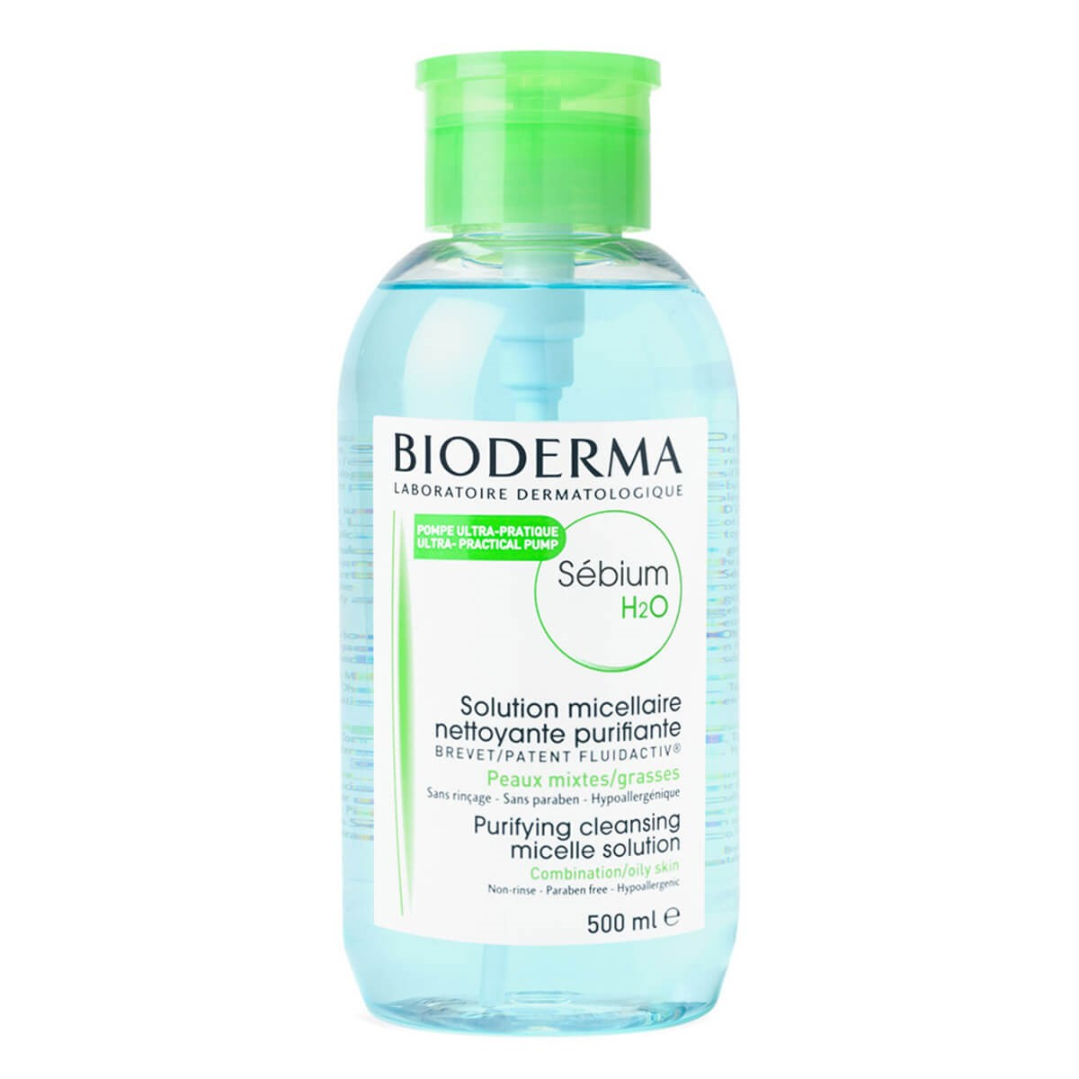 Bioderma Sébium H2O Purifying Cleansing Micelle Solution 500ml