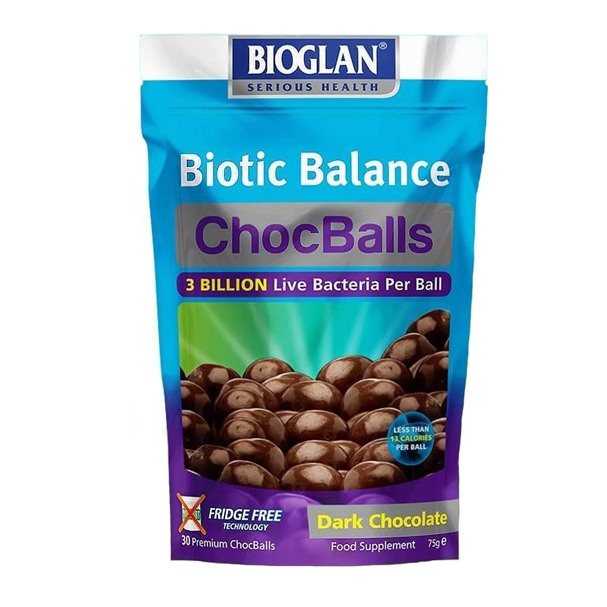 Bioglan Biotic Balance  Adults ChocBalls Dark Chocolate