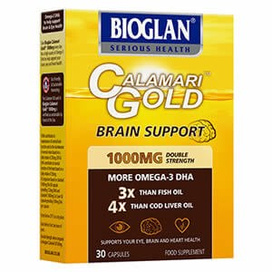 Bioglan Calamari Gold Brain Support 1000mg Capsules