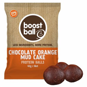 Image of Boostball Chocolate Orange Mud Cake Protein Balls 42g