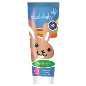 Brush-Baby Baby&Toddler Toothpaste - Applemint (0-3 years)