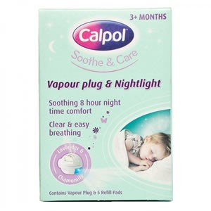 Calpol Vapour Plug & Nightlight 3m+