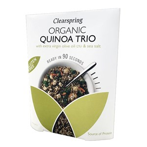 Clearspring Organic Gluten Free Quinoa Trio With Extra Virgin Olive Oil & Sea Salt