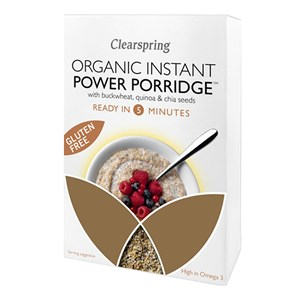 Clearspring Organic Instant Gluten Free Power Porridge with Buckwheat, Quinoa & Chia Seeds