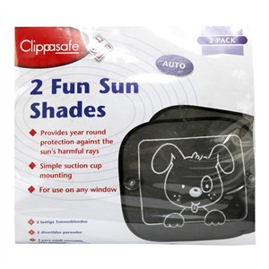 Clippasafe 2 Fun Sun Shades - 2 pack