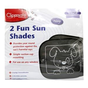 Image of Clippasafe 2 Fun Sun Shades - 2 pack