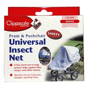 Clippasafe Pram & Pushchair Universal Insect Net - Colour White