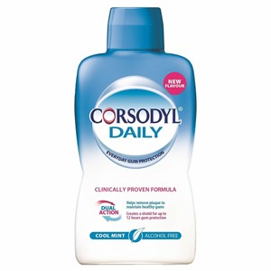 Corsodyl Daily Mouthwash - Cool Mint - Alcohol Free