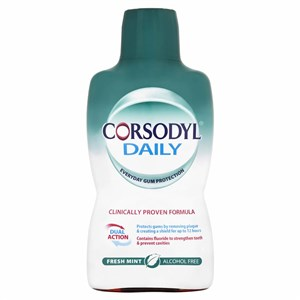 Corsodyl Daily Mouthwash - Fresh Mint - Alcohol Free