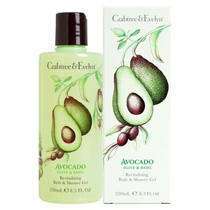 Crabtree & Evelyn Avocado, Olive & Basil Bath & Shower Gel