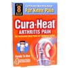 Cura-Heat Arthritis Pain for Knee Pain 4 Pads