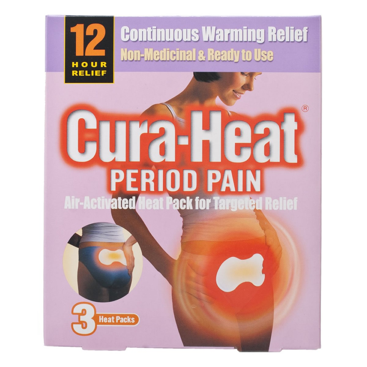 Cura-Heat 12hr Period Pain Relief Patches