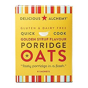 Delicious Alchemy Gluten & Dairy Free Quick Cook Golden Syrup Porridge Oats
