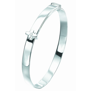 D for Diamond B775 Cross Diamond Bangle