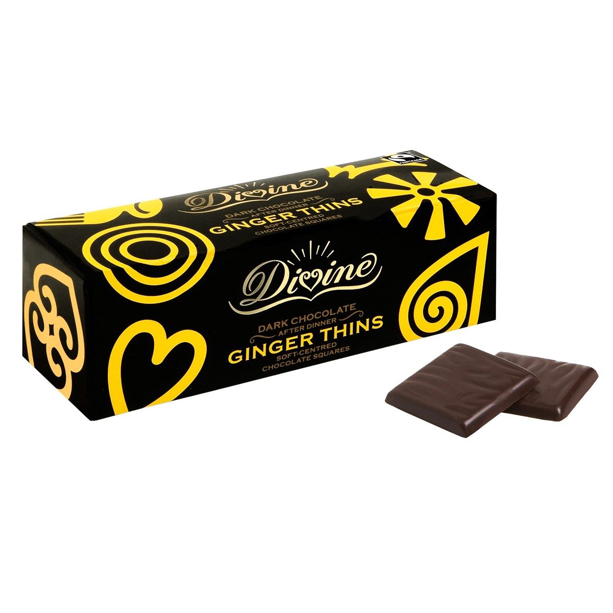 Divine Dark Chocolate After Dinner Ginger Thins