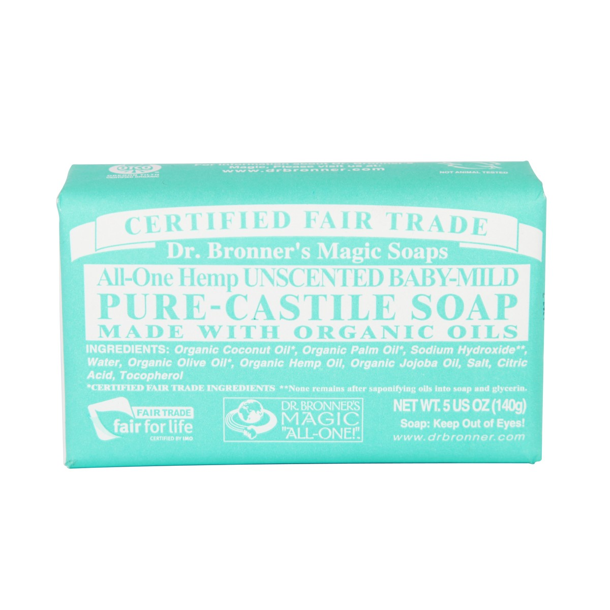 Dr Bronner's Magic soap All-One Hemp Unscented baby mild