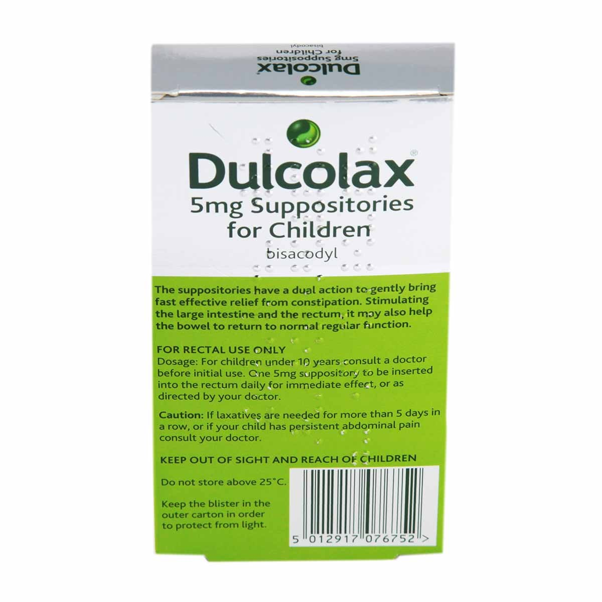 Dulcolax 5mg Suppositories For Children