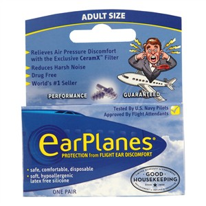 EarPlanes Protection from Flight Ear Discomfort - Adult Size