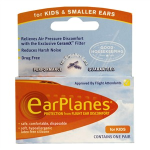 EarPlanes Protection from Flight Ear Discomfort - for Kids & Smaller Ears