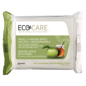 Ecocare Facial Cleansing Wipes - Organic Apple with Honey