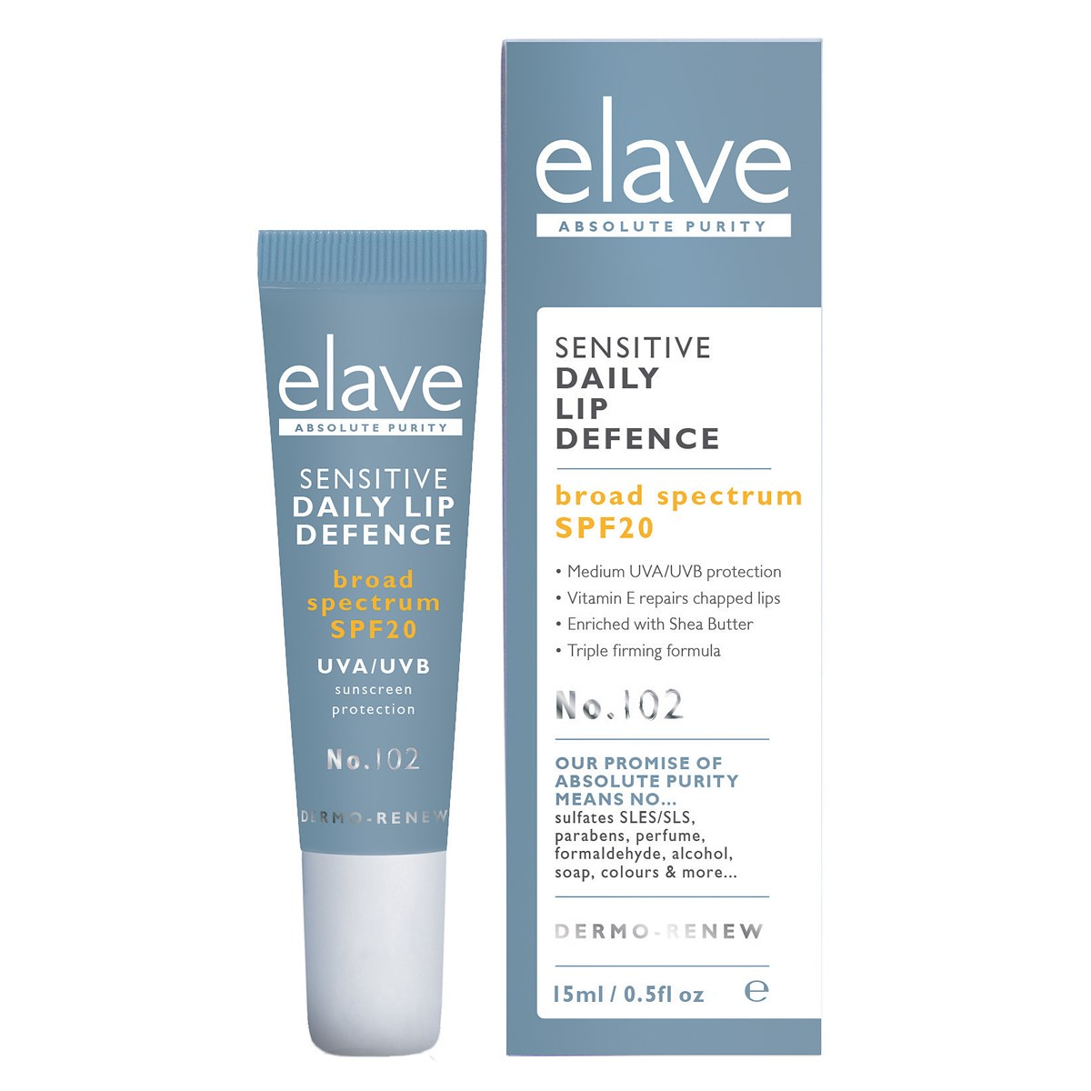 Elave Sensitive Daily Lip Defence SPF20