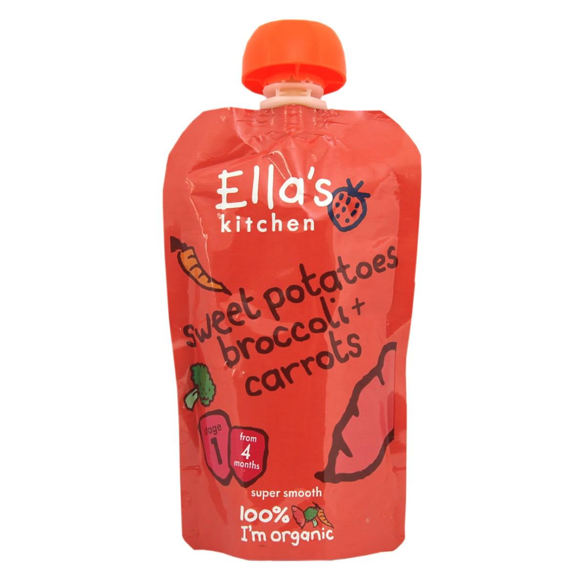 Ella's Kitchen Sweet Potatoes, Broccoli + Carrots -  Stage 1